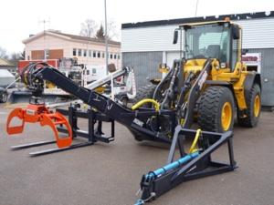 Lastmaskiner med utrustning